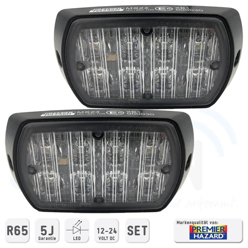Premier Hazard Frontblitzerset MS24 LED R65 - SOSIAN