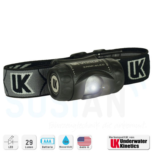 UK Stirnlampe 3AAA Vizion LED