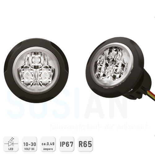 Nano LED Blitzer Set 10-30VDC ECE-R65