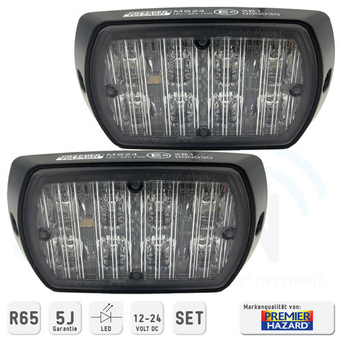 Premier Hazard Frontblitzerset MS24 LED R65