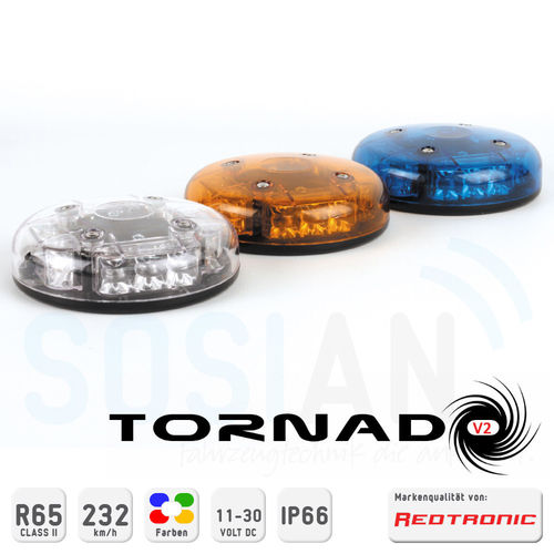 LED Hochleistungs-Kennleuchte Redtronic Tornado-V2 Class II